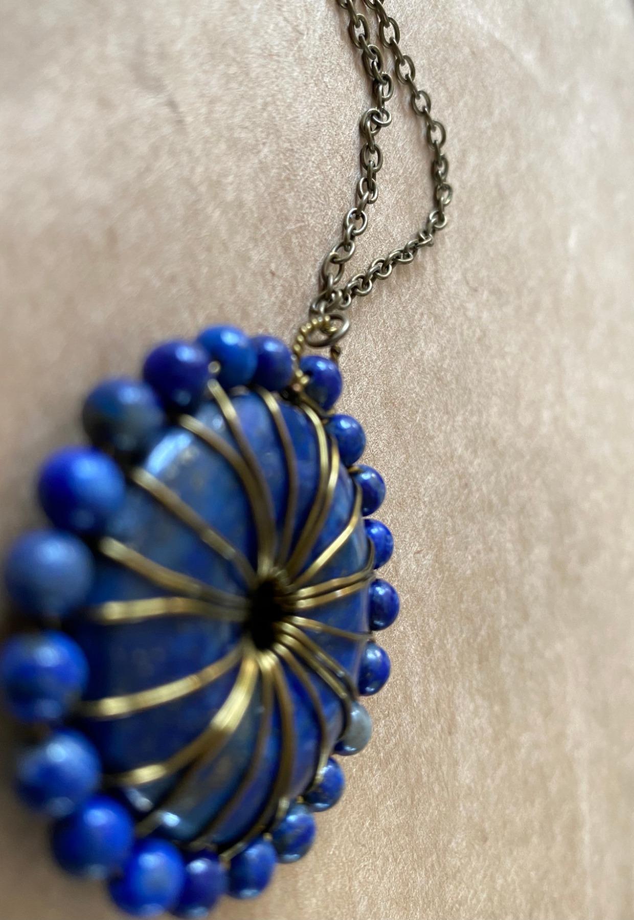 handgemaakt met lapis lazuli