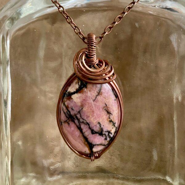 cracked pink rhodoniet