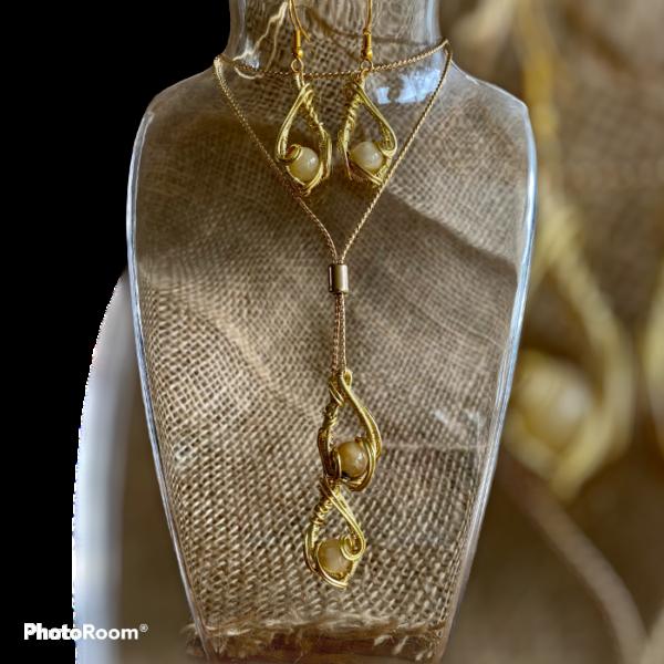 "aparte handgemaakte sieradenset ""graceful gold"""