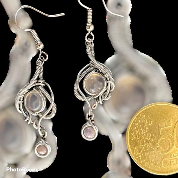 Fantastische handgemaakte oorbellen met rookkwarts
